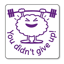 You Didn't Give Up Stamper - Purple Ink (25mm) Brainwaves