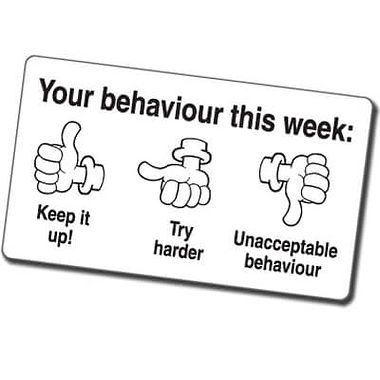 Your Behaviour This Week' Thumbs Stamper (42mm x 22mm, Black Ink)