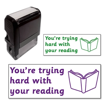 You're Trying Hard With Your Reading Stamper (38mm x 15mm)