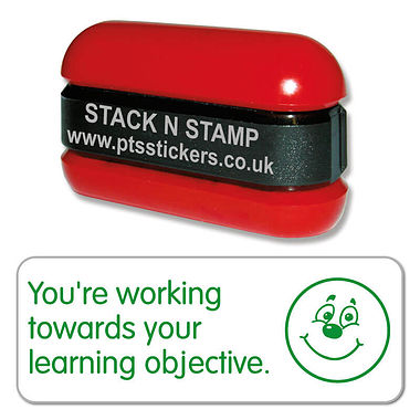 You're Working Towards Your Learning Objective Stack & Stamp - Green Ink (38mm x 15mm)