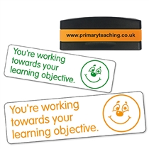 You're Working Towards Your Learning Objective Stakz Stamper (44mm x 13mm)