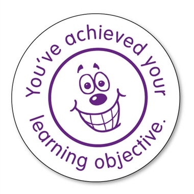 You've Achieved Your Learning Objective Stamper Purple Ink (21mm)