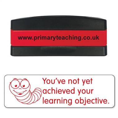 You've Not Yet Achieved Your Learning Objective Stakz Stamper - Red Ink (44mm x 13mm)